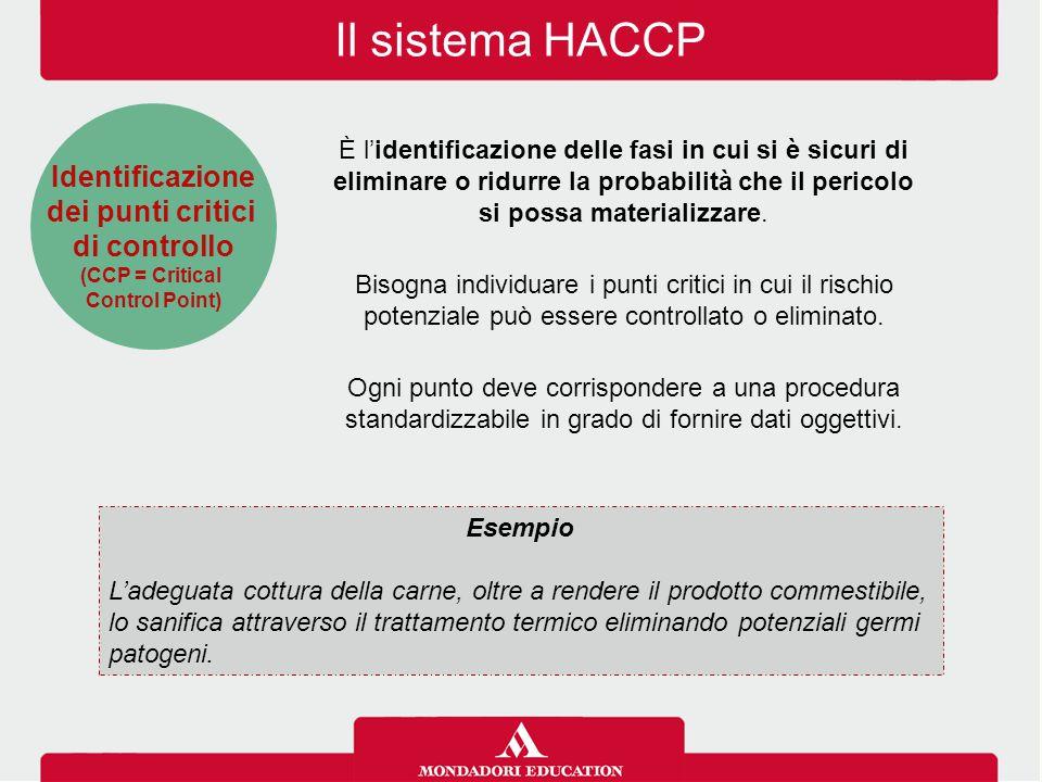 Il sistema HACCP È l'identificazione delle fasi in cui si è sicuri di eliminare o ridurre la probabilità che il pericolo si possa materializzare. Biso