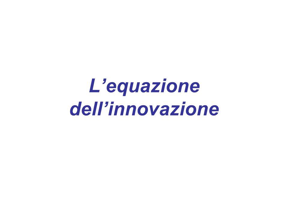 L'equazione dell'innovazione