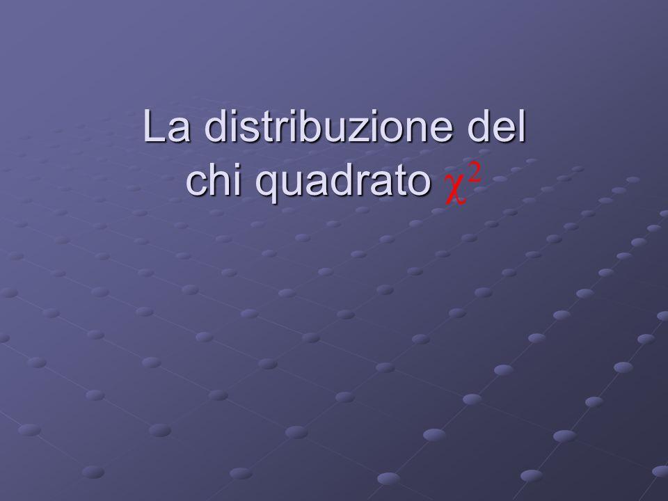 La distribuzione del chi quadrato La distribuzione del chi quadrato  