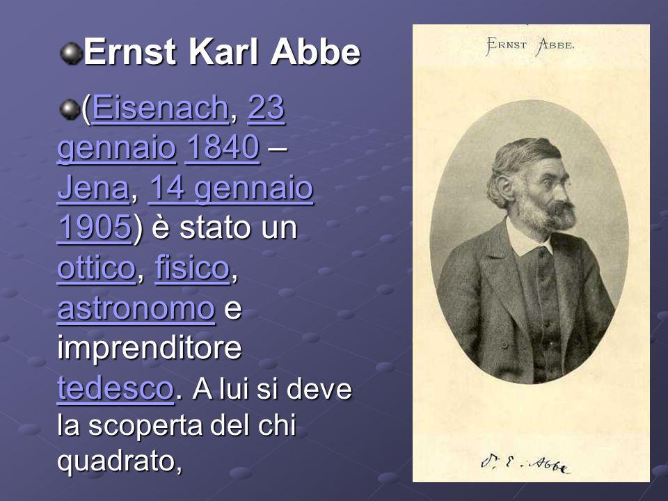 Ernst Karl Abbe (Eisenach, 23 gennaio 1840 – Jena, 14 gennaio 1905) è stato un ottico, fisico, astronomo e imprenditore tedesco.