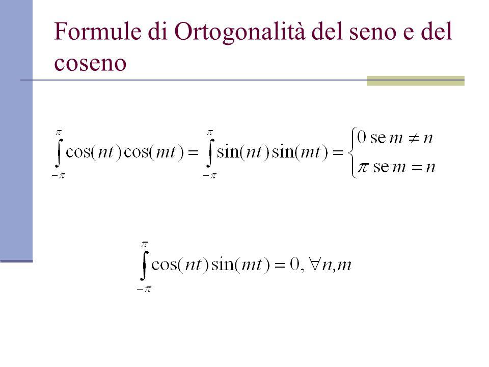 Formule di Ortogonalità del seno e del coseno