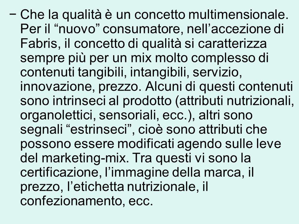 −Che la qualità è un concetto multimensionale.