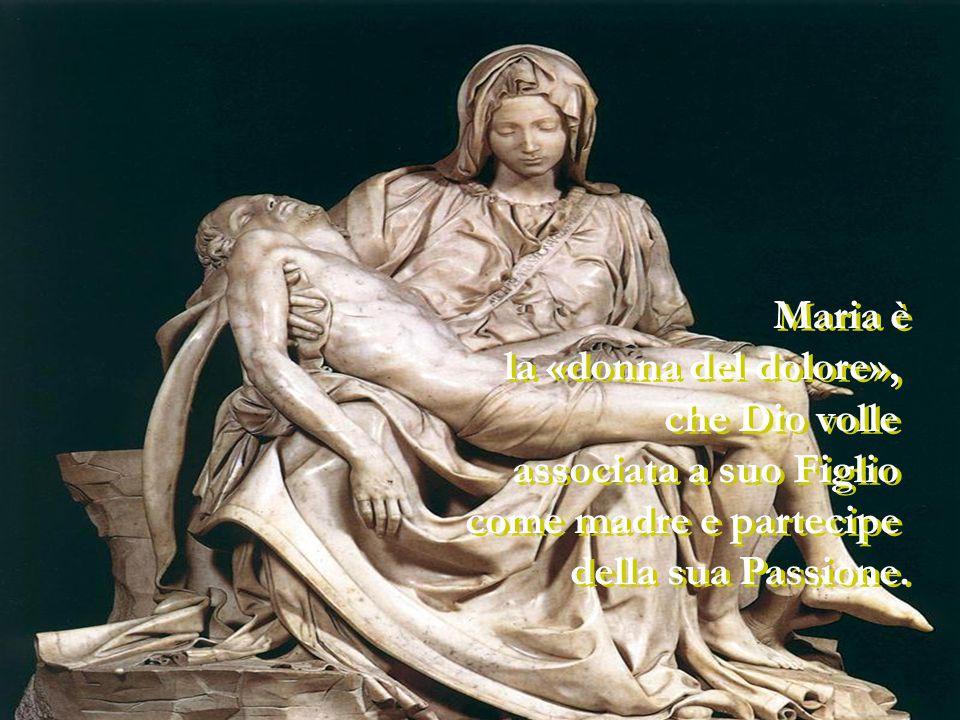Maria è la «donna del dolore», che Dio volle associata a suo Figlio come madre e partecipe della sua Passione.