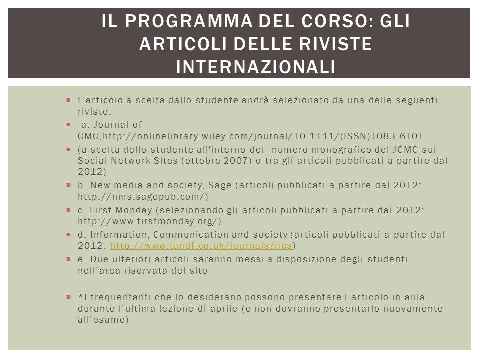 LA RIVOLUZIONE DI INTERNET: DIFFUSIONE DELL'INNOVAZIONE (ROGERS) slide 54