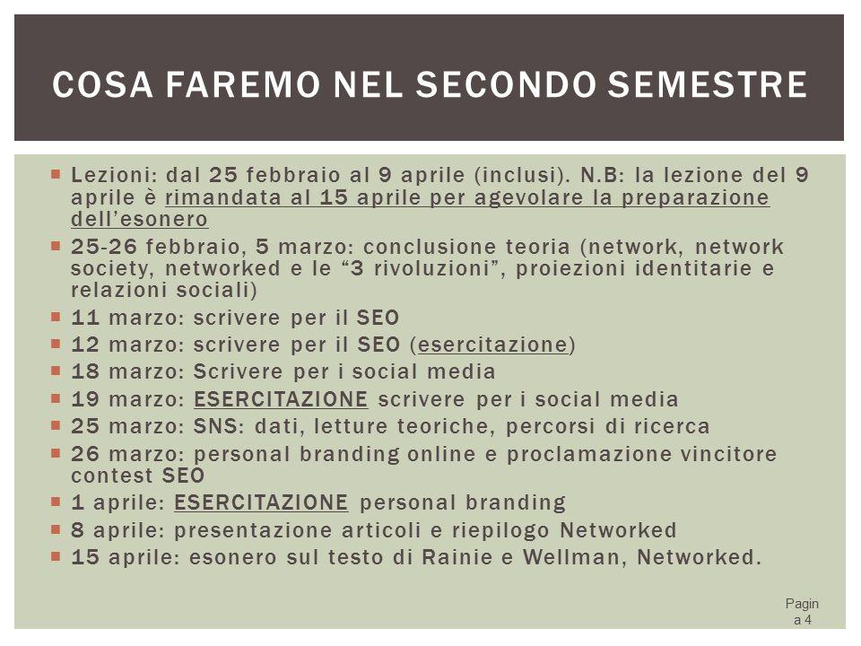 PERCHÉ STUDIARE I SOCIAL NETWORK SITE.