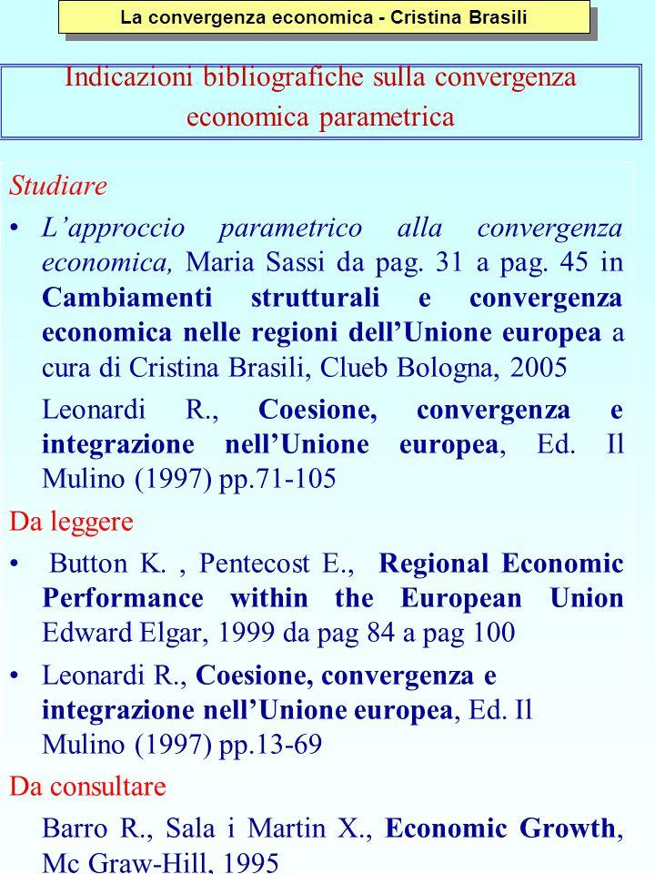 Studiare L'approccio parametrico alla convergenza economica, Maria Sassi da pag. 31 a pag. 45 in Cambiamenti strutturali e convergenza economica nelle