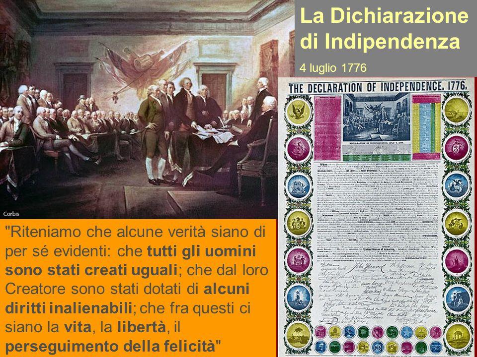La Dichiarazione di Indipendenza 4 luglio 1776