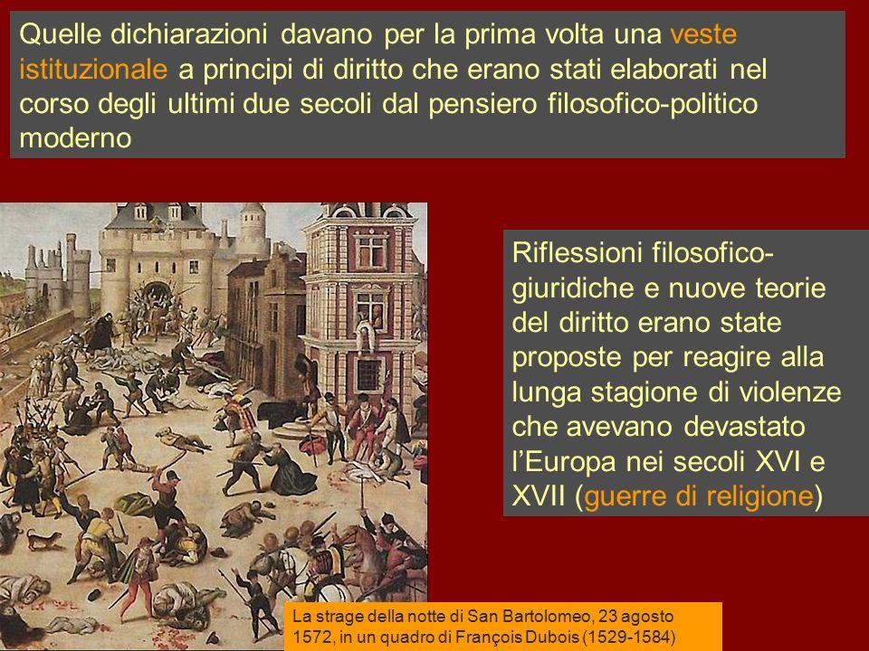 La strage della notte di San Bartolomeo, 23 agosto 1572, in un quadro di François Dubois (1529-1584) Quelle dichiarazioni davano per la prima volta un