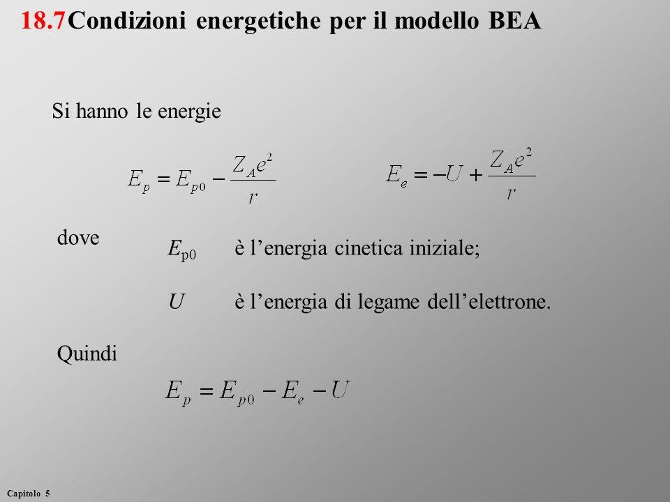 E p0 è l'energia cinetica iniziale; Uè l'energia di legame dell'elettrone.