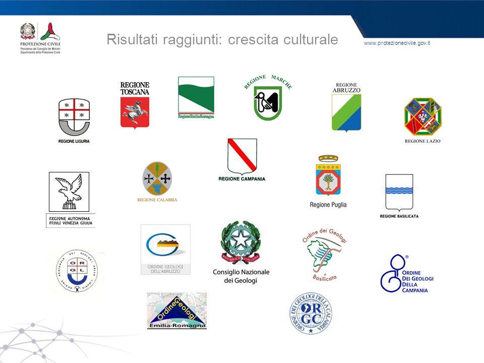 www.protezionecivile.gov.it Risultati raggiunti: crescita culturale