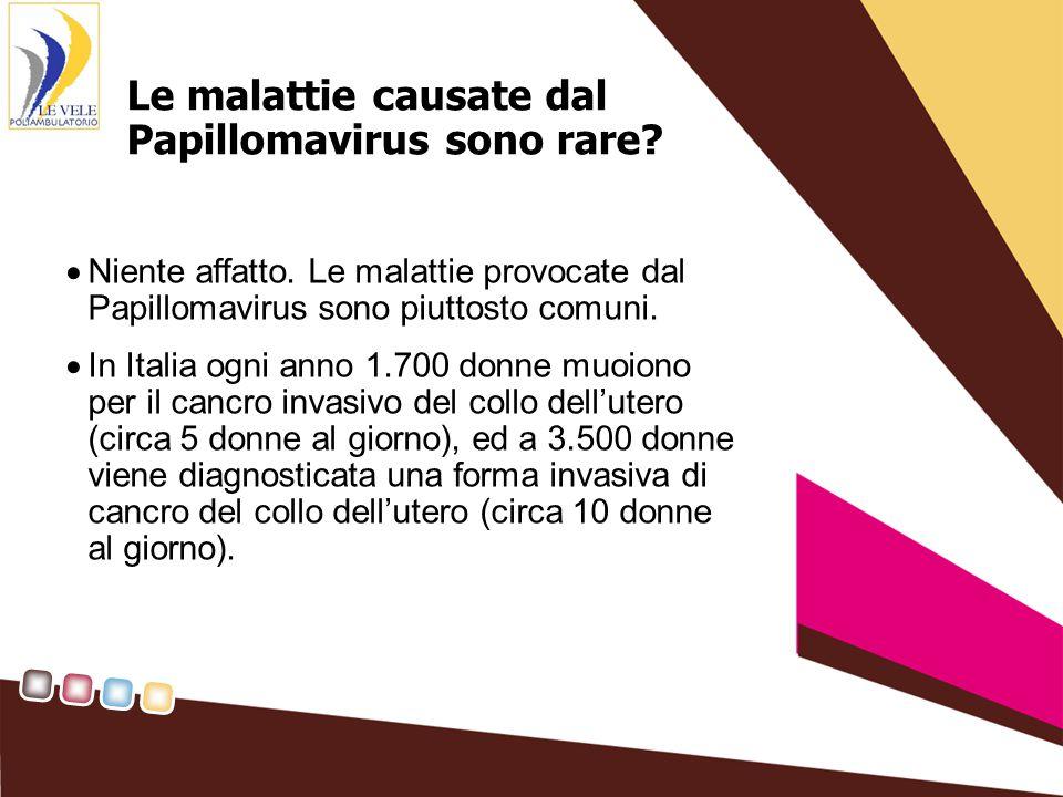 Le malattie causate dal Papillomavirus sono rare. Niente affatto.