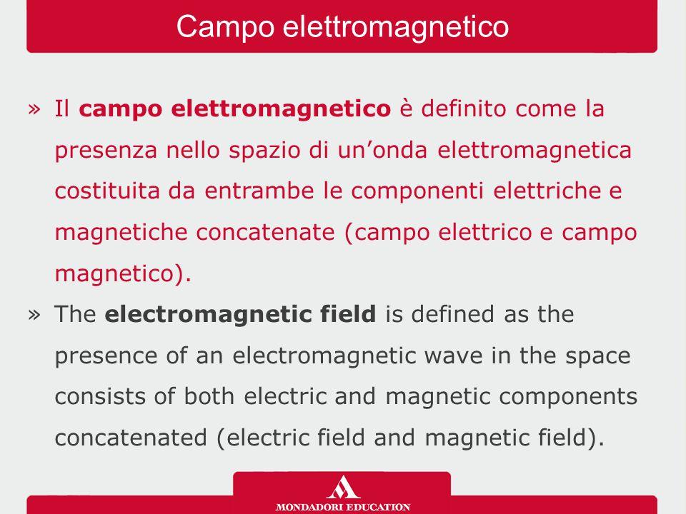 »Il campo elettromagnetico è definito come la presenza nello spazio di un'onda elettromagnetica costituita da entrambe le componenti elettriche e magnetiche concatenate (campo elettrico e campo magnetico).