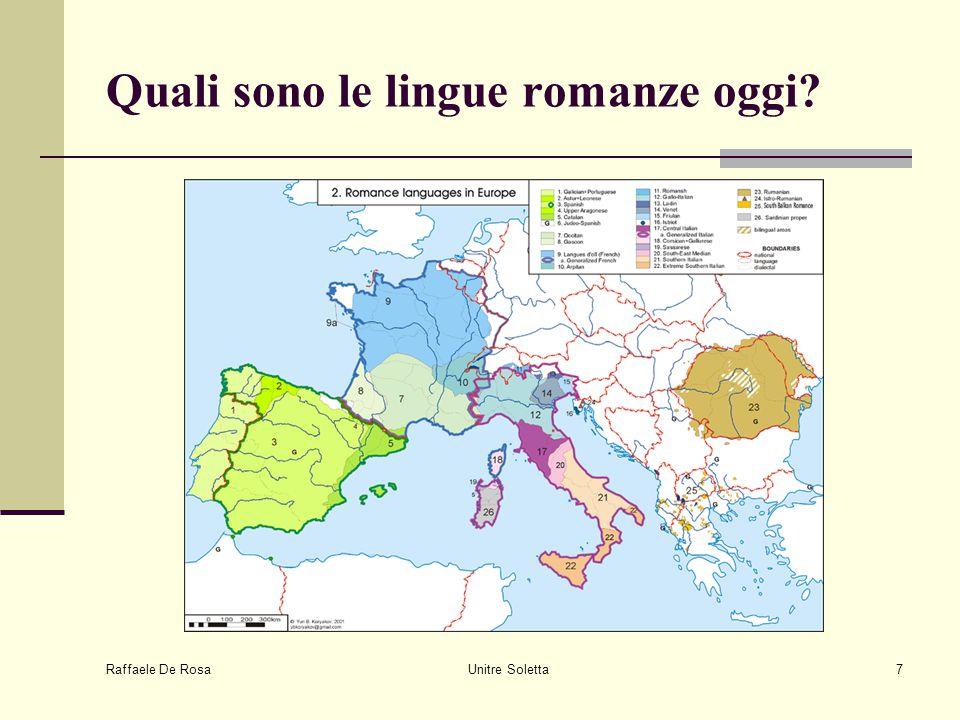 Raffaele De Rosa Unitre Soletta7 Quali sono le lingue romanze oggi?