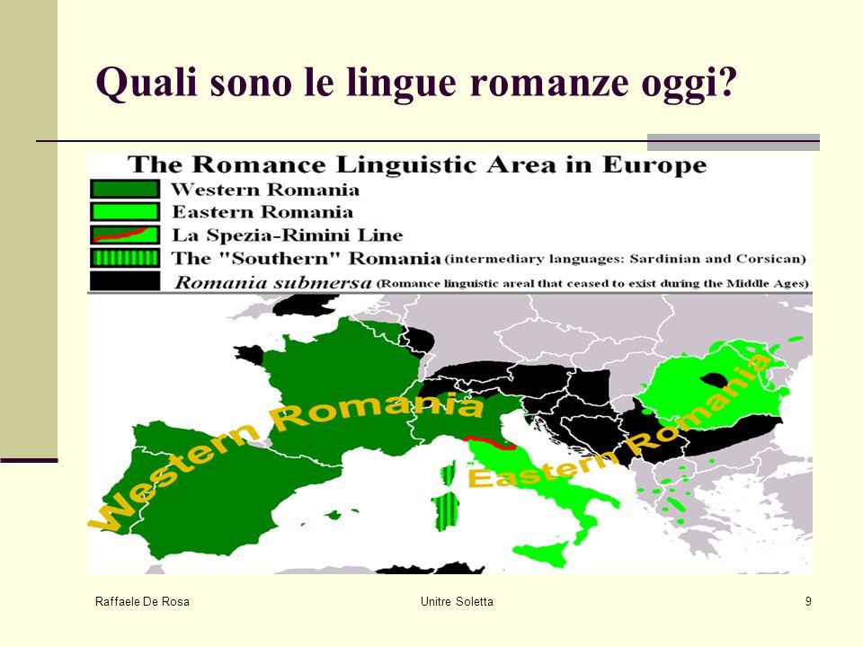 Raffaele De Rosa Unitre Soletta9 Quali sono le lingue romanze oggi?