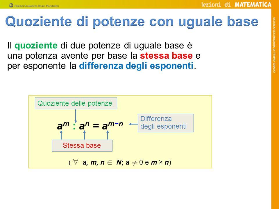 10 5 : 10 4 = 10 5-4 = 10 1 = 10 Completa le seguenti uguaglianze.