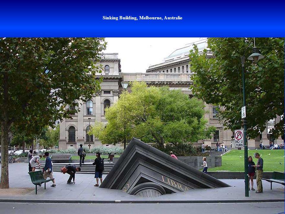 Sinking Building, Melbourne, Australie