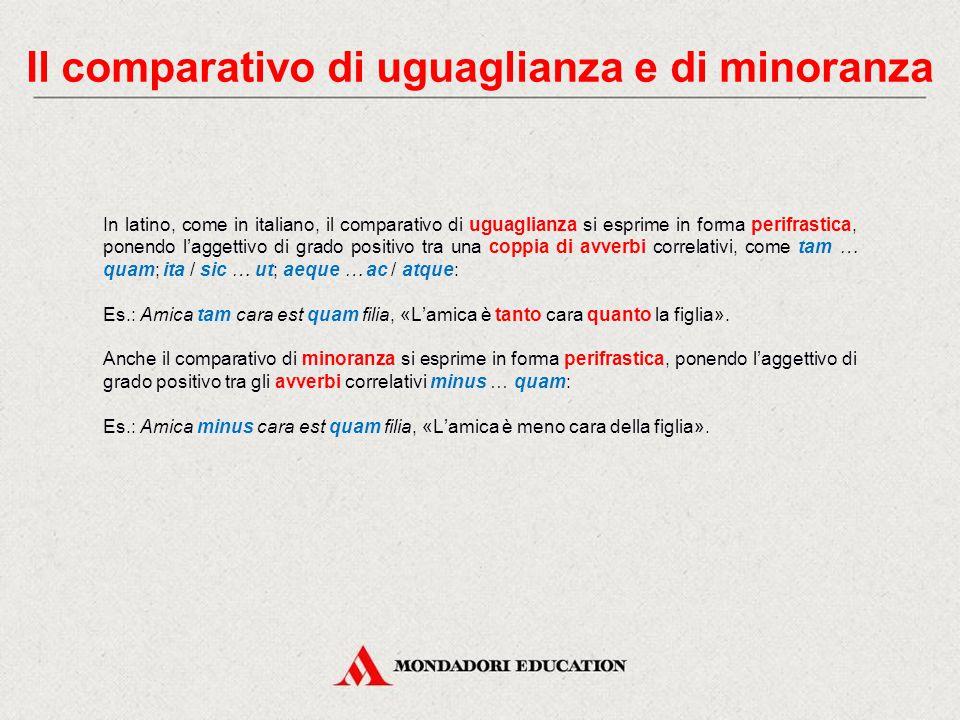 In italiano In italiano l'aggettivo può esprimere una qualità con diversi gradi di intensità: grado positivo: esprime il puro e semplice possesso dell