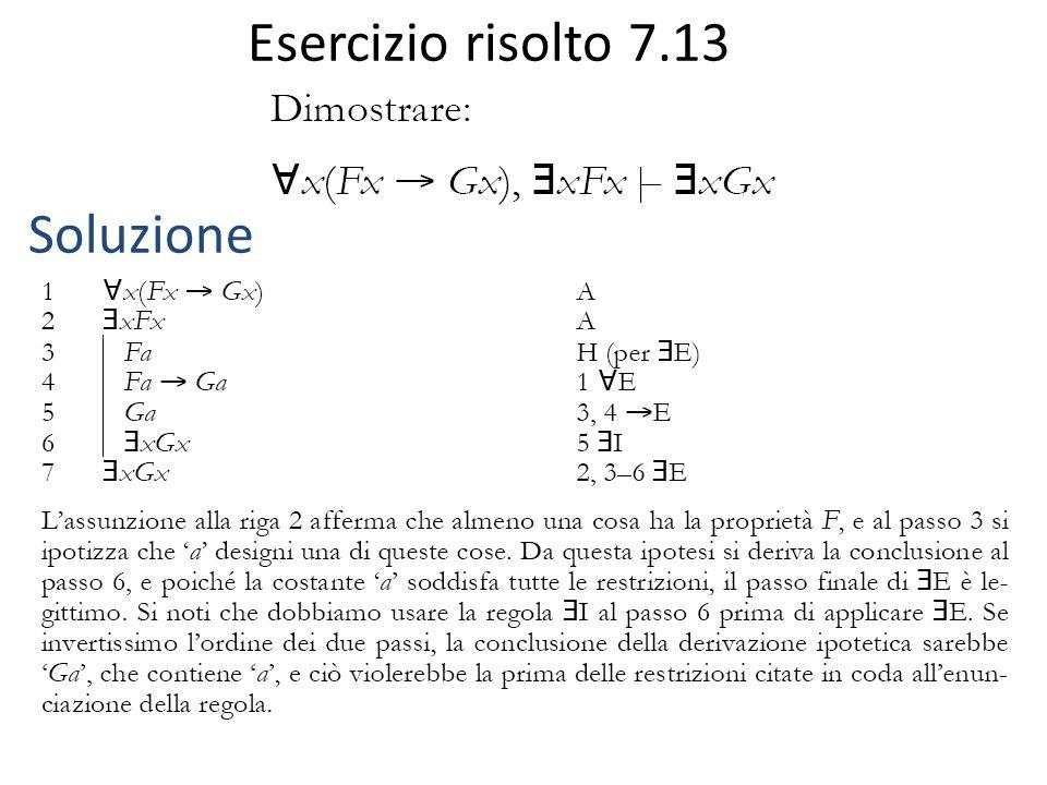 Esercizio risolto 7.13 Soluzione
