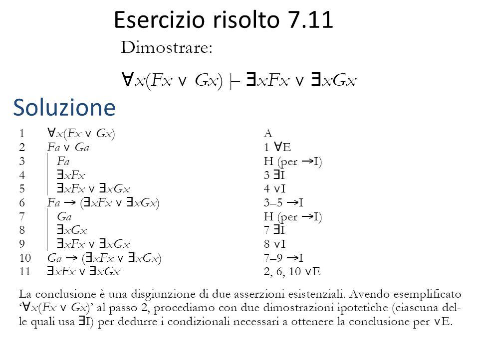 Esercizio risolto 7.11 Soluzione