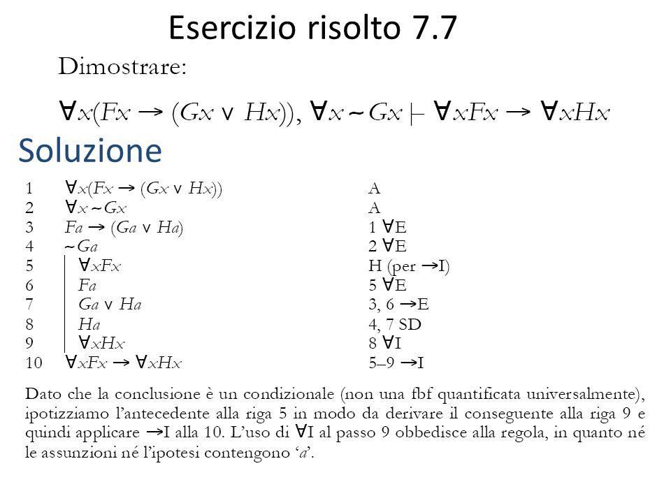 Regole di equivalenza Guardare tabella 7.2, p.