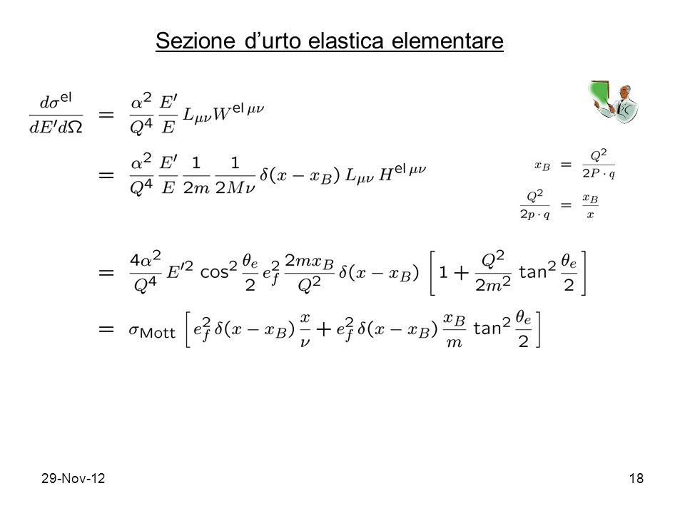 29-Nov-1218 Sezione d'urto elastica elementare