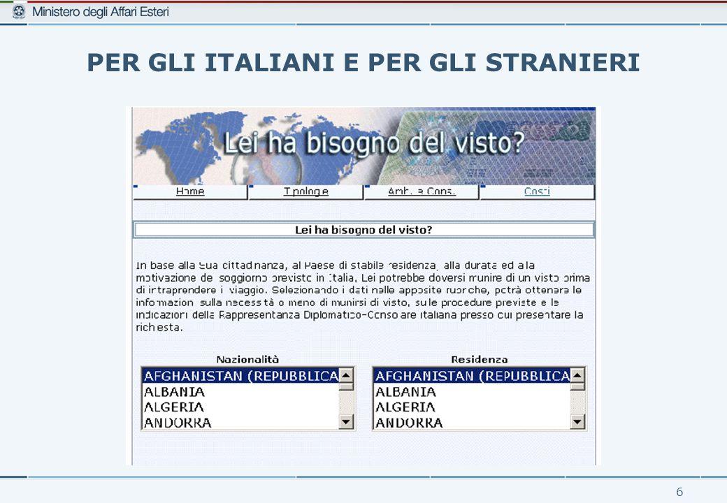 6 PER GLI ITALIANI E PER GLI STRANIERI