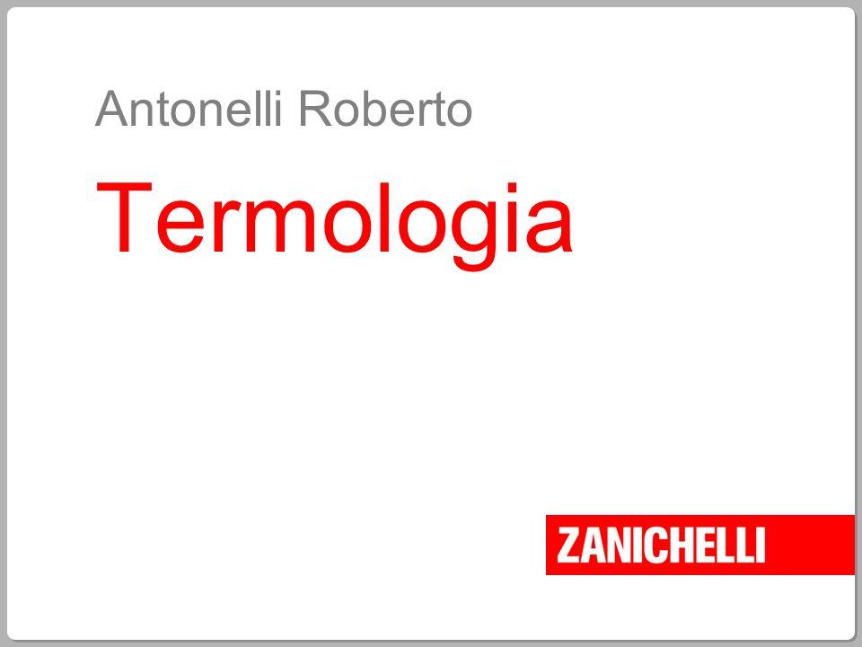 Antonelli Roberto Termologia