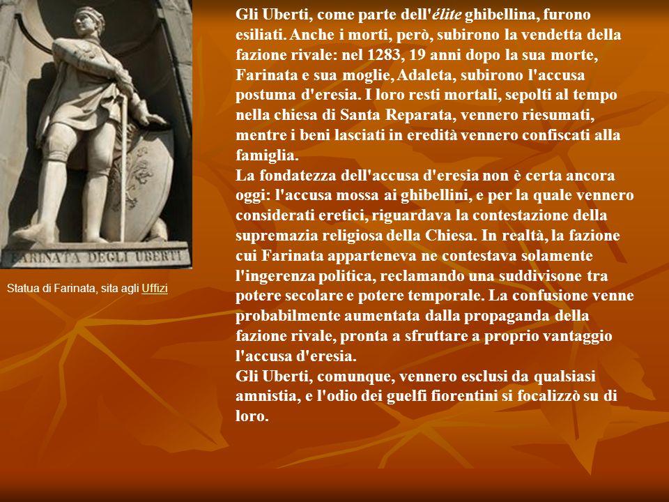 Il Luogo Dante e Virgilio, attraverso le mura della città di Dite, entrano nel 6° cerchio dell'Inferno, quello degli eretici e degli epicurei, cioè di coloro che non hanno creduto nell'immortalità dell'anima; fra di essi sono compresi anche le anime di quelli che si sono politicamente ribellati al Papato: i ghibellini.