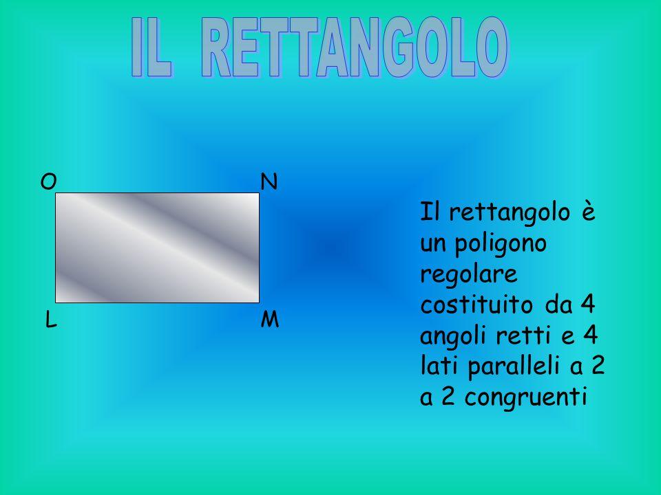 LM NO Il rettangolo è un poligono regolare costituito da 4 angoli retti e 4 lati paralleli a 2 a 2 congruenti