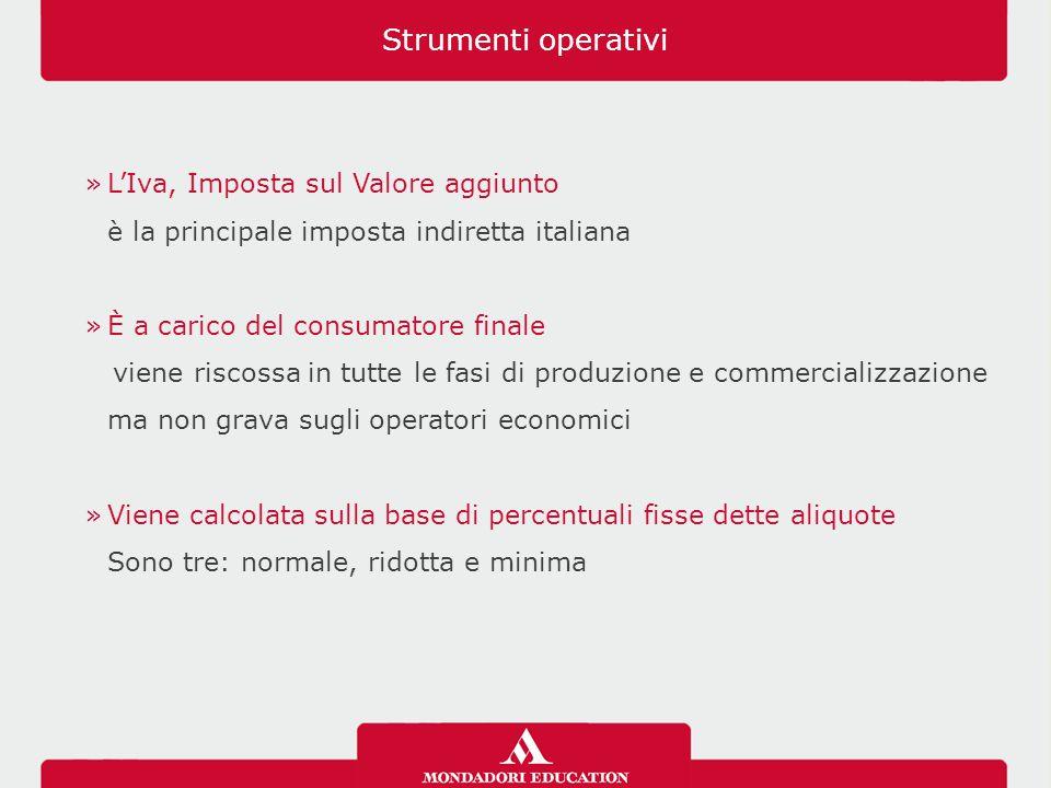 »L'Iva, Imposta sul Valore aggiunto è la principale imposta indiretta italiana »È a carico del consumatore finale viene riscossa in tutte le fasi di p
