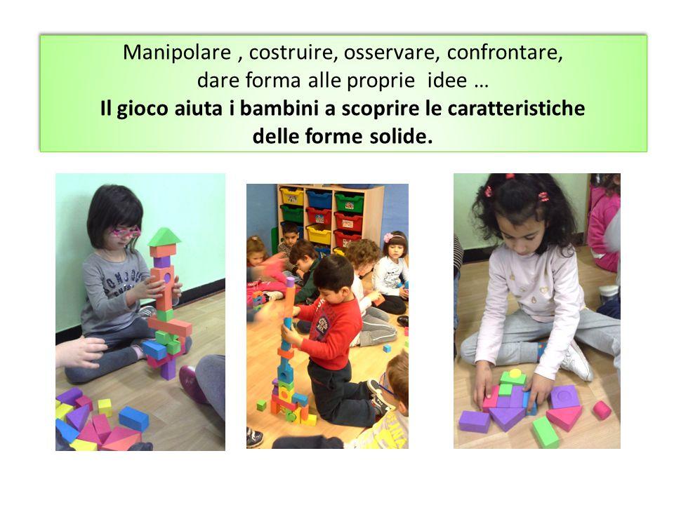 Manipolare, costruire, osservare, confrontare, dare forma alle proprie idee … Il gioco aiuta i bambini a scoprire le caratteristiche delle forme solid