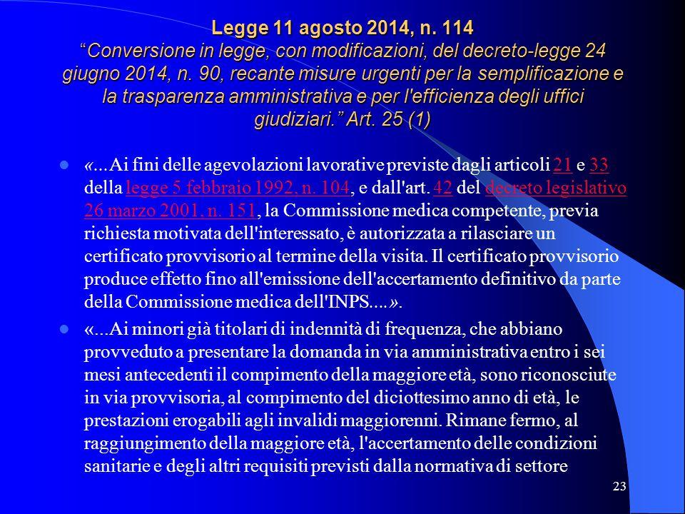 Legge 11 agosto 2014, n.