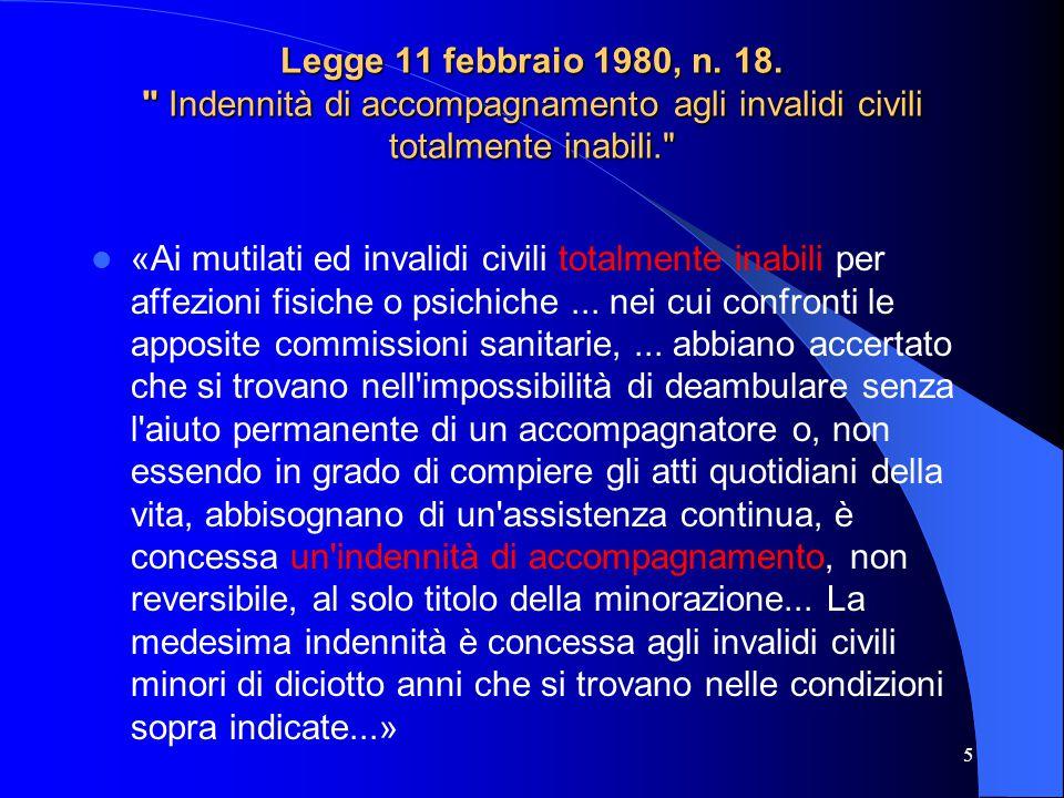 Legge 11 febbraio 1980, n.18.