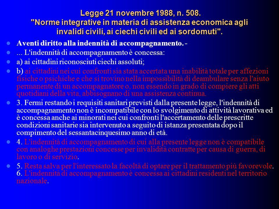 Legge 21 novembre 1988, n.508.