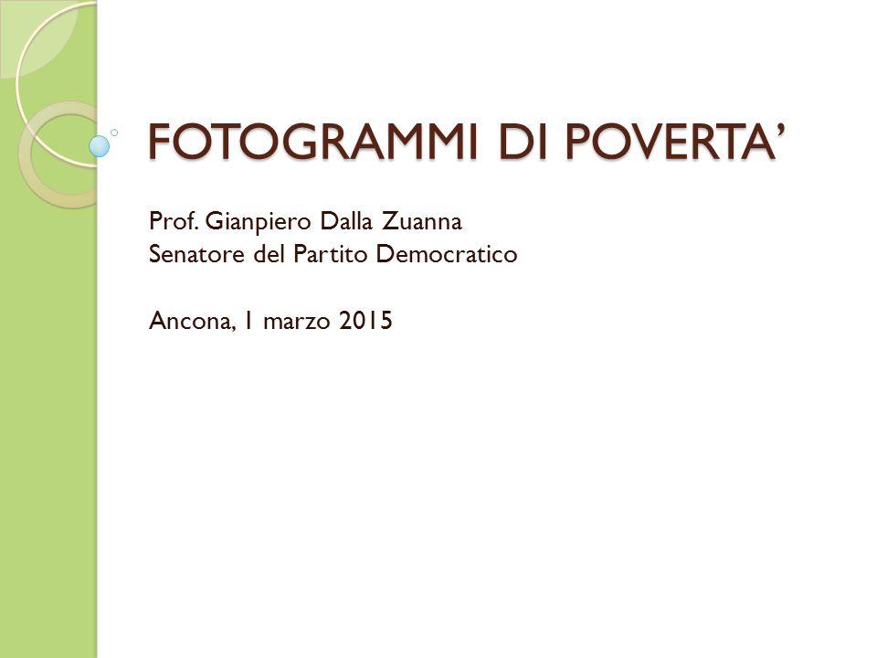 FOTOGRAMMI DI POVERTA' Prof.
