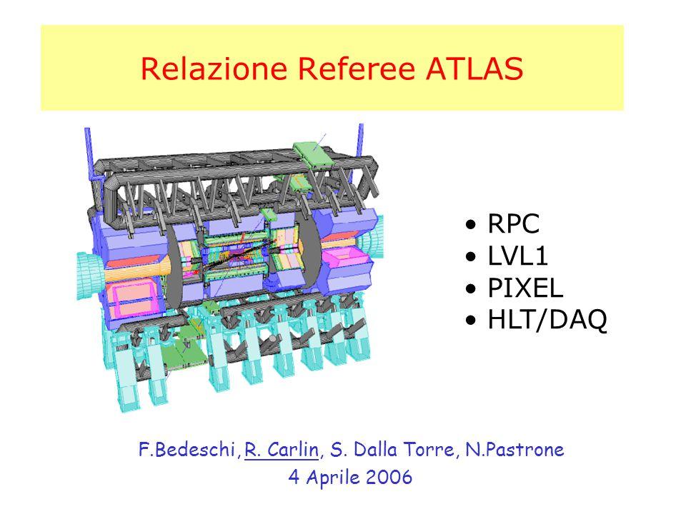 Relazione Referee ATLAS F.Bedeschi, R. Carlin, S.