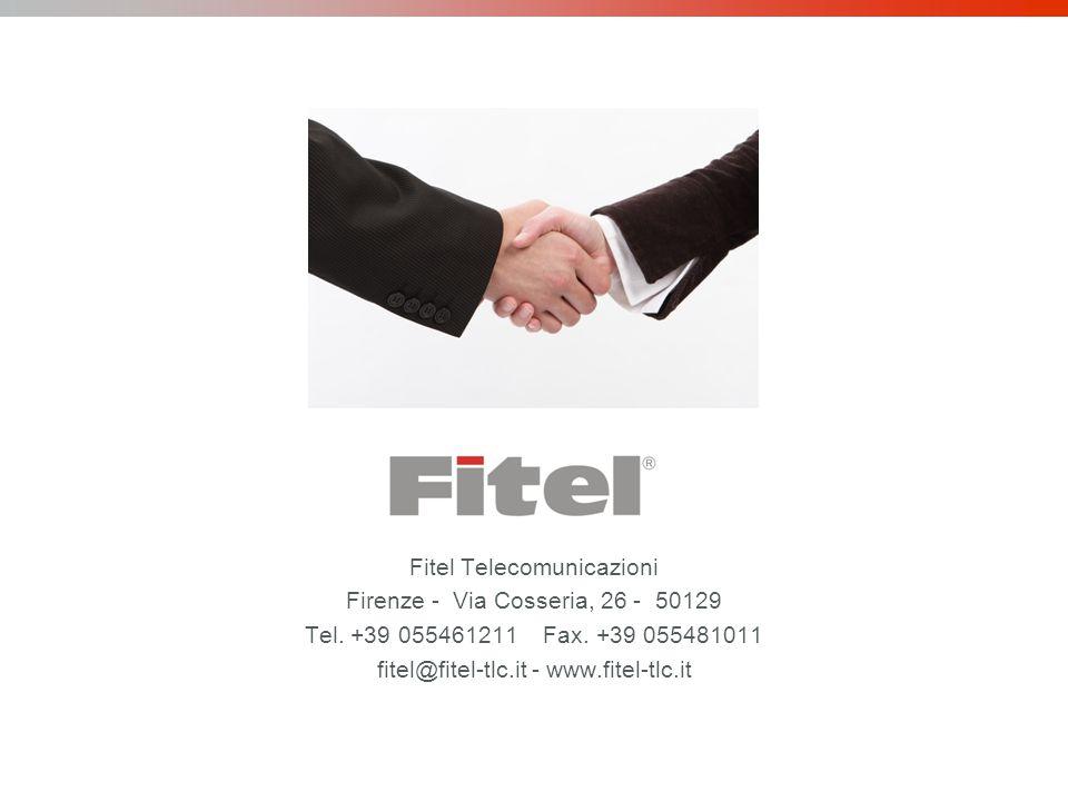 Fitel Telecomunicazioni Firenze - Via Cosseria, 26 - 50129 Tel.
