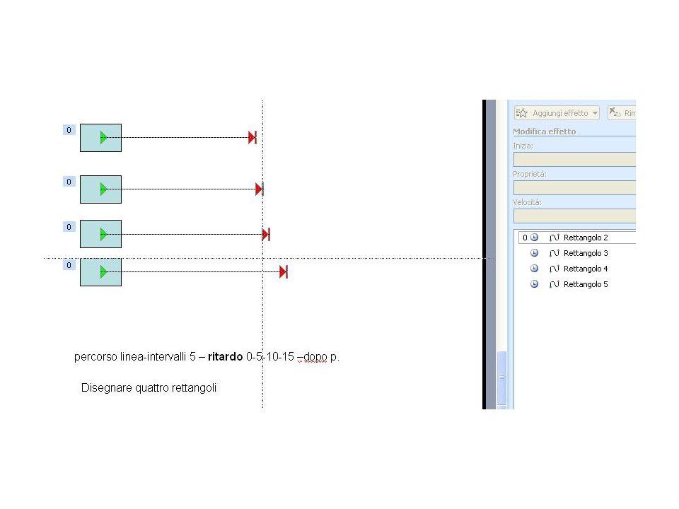 Entrata espansione-percorso linea-intervalli 5 - ripeti 2-dopo precedente Entrata espansione-percorso linea-intervalli 5- opzioni reverse Entrata espansione – opzioni effetti audio applausi-dopo precedente
