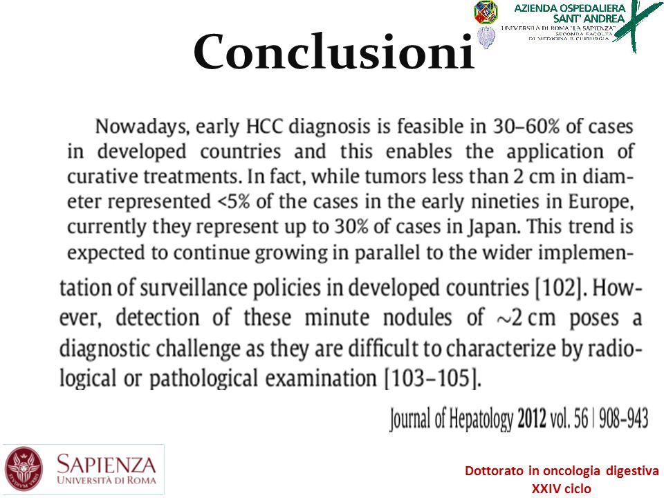 Conclusioni Dottorato in oncologia digestiva XXIV ciclo