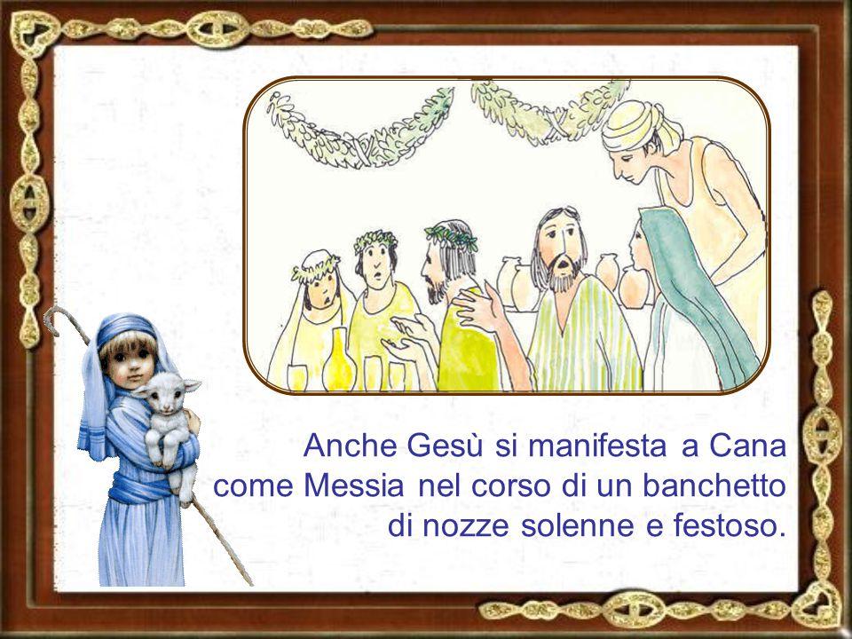 Già nell'Antico Testamento i profeti avevano rappresentato la felicità dei tempi messianici, iniziati con la venuta di Gesù, attraverso l'immagine di un banchetto sontuoso.