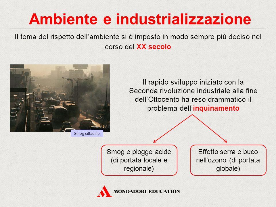 Il rapido sviluppo iniziato con la Seconda rivoluzione industriale alla fine dell'Ottocento ha reso drammatico il problema dell'inquinamento Il tema d