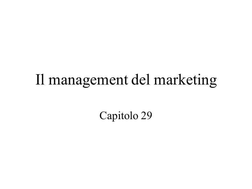 Si definisce il marketing quale l'insieme delle attività aziendali deputate allo scambio di di beni e servizi  Marketing operativo  Marketing strategico  Marketing informativo