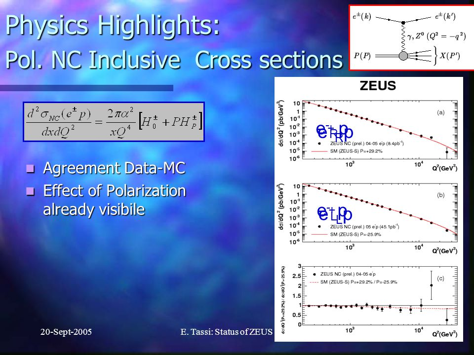 20-Sept-2005E.Tassi: Status of ZEUS17 Physics Highlights: Pol.