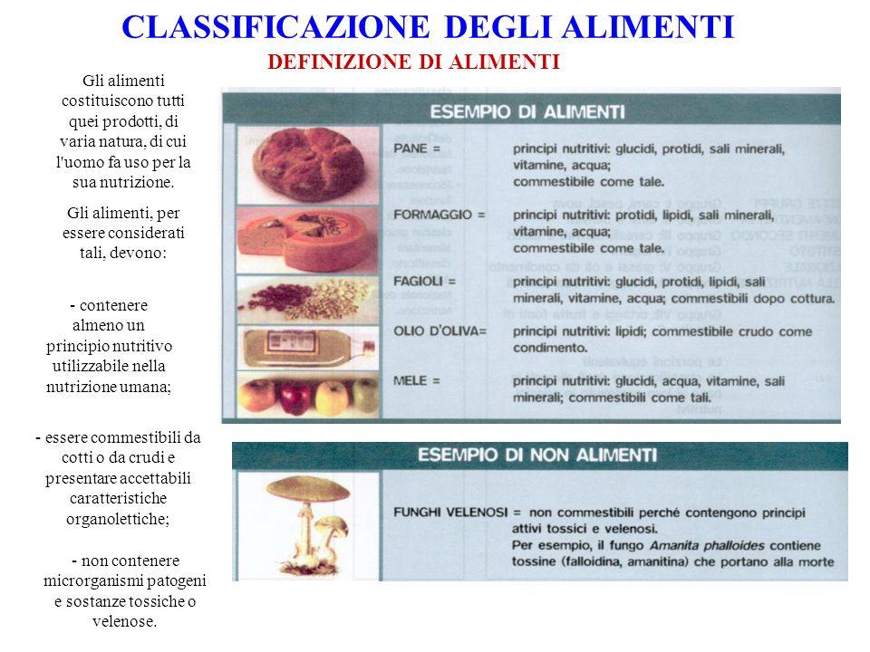 CRITERI DI CLASSIFICAZIONE I 7 GRUPPI FONDAMENTALI DEGLI ALIMENTI Particolarmente importante è la distinzione che tiene conto del contenuto in nutrienti e della funzione prevalente svolta dagli alimenti.