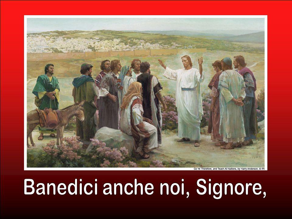 Gesù li condusse fuori, verso Betania, e alzate le mani li benedisse. (Lc 24, 50)