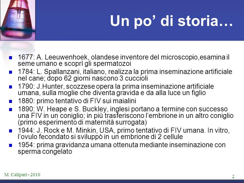 M.Calipari - 2010 2 Un po' di storia… 1677: A.