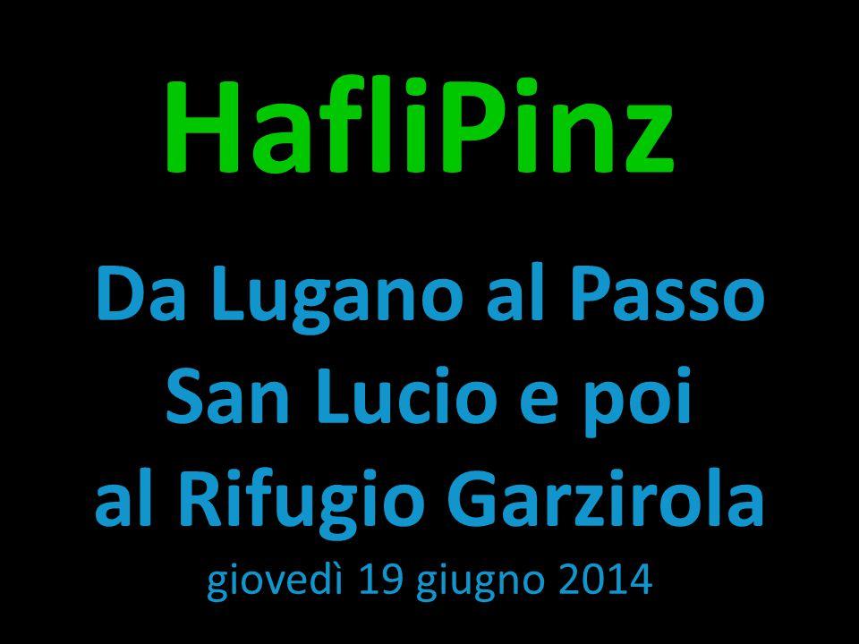 HafliPinz Da Lugano al Passo San Lucio e poi al Rifugio Garzirola giovedì 19 giugno 2014