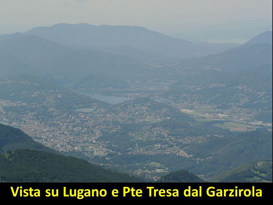 Vista su Lugano e Pte Tresa dal Garzirola