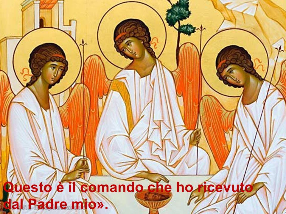Questo è il comando che ho ricevuto dal Padre mio».