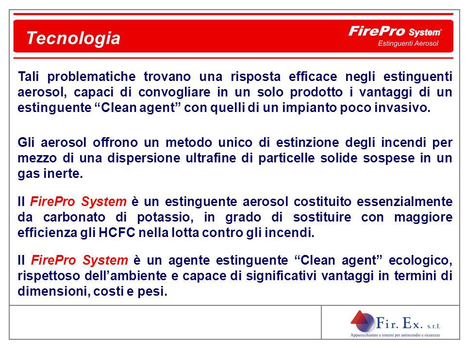 Il FirePro System è un composto solido contenuto all'interno di generatori metallici.